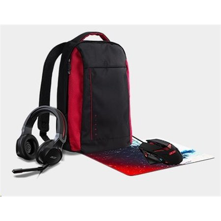 ACER NTB NITRO Combo-Set Accessory, 4in1 Kit (Mouse+Mousepad+Headset+Backpack), retail pack