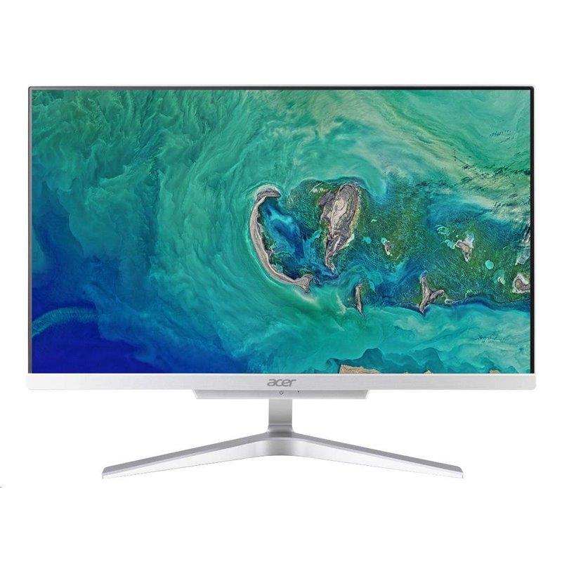 """ACER PC AiO Aspire C22-865-i3 8130U@2.2GHz, 21,5"""" FHD,4GB,1TBHDD54,ext.DVD,Intel HD 620,HDMI,USB3.1,kl+mys,W10H,stříbrný"""