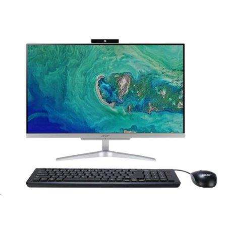 """ACER PC AiO Aspire C24-865 - i5-8250U@1.6GHz, 23,8"""" FHD,8GB,1TBHDD54,ext.DVD,Intel HD 620,USB3.1,kl+mys,W10H,střibrný"""