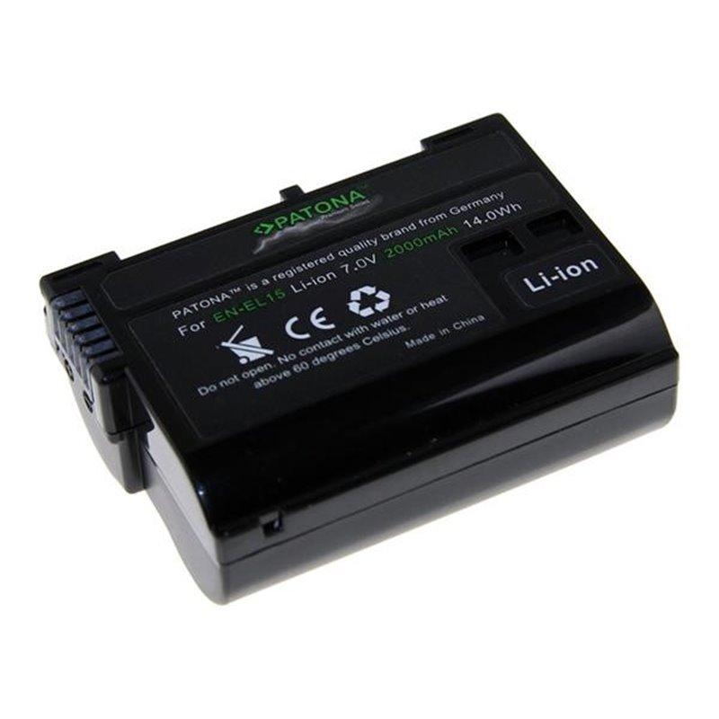 Fotobaterie Patona pro Nikon EN-EL15 2000mAh Li-Ion Premium