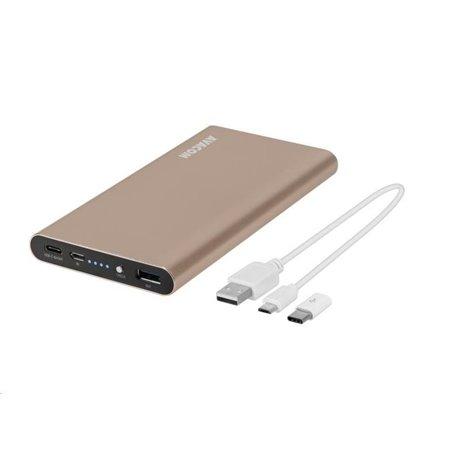 AVACOM PowerBank PRISMA AL-10, Li-Pol 10000mAh, USB-C, QC vstup a výstup, zlatá