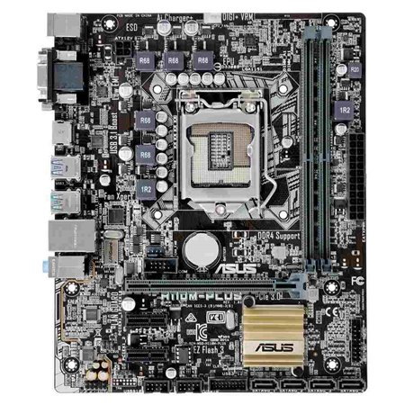 ASUS MB Sc LGA1151 H110M-PLUS, Intel H110, 2xDDR4, VGA, mATX