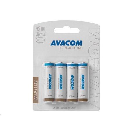 AVACOM Nenabíjecí baterie AA AVACOM Ultra Alkaline 4ks Blistr