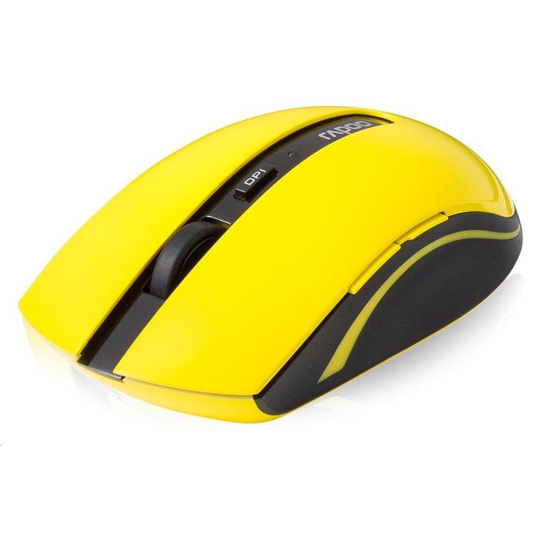 RAPOO Myš 7200P USB optická, bezdrátová, žlutá