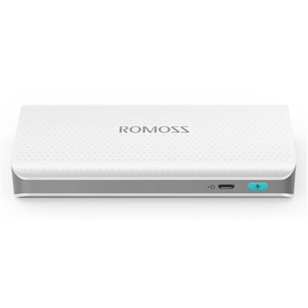 ROMOSS sense 4 LED PH50 White Power Bank Capacity:10400mAh (Cell: Lithium Ion), Input: DC5V 2.1A