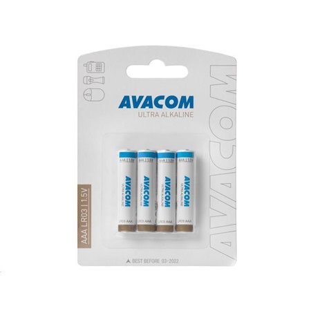 AVACOM Nenabíjecí baterie AAA AVACOM Ultra Alkaline 4ks Blistr