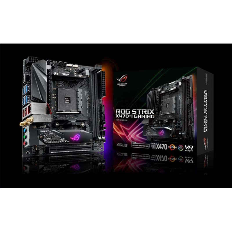 ASUS MB Sc AM4 ROG STRIX X470-I GAMING, AMD X470, 2xDDR4, VGA, WIFI, mini-ITX