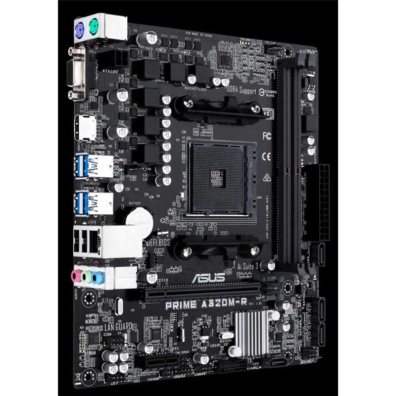 ASUS MB Sc AM4 PRIME A320M-R, AMD A320, 2xDDR4, VGA, mATX