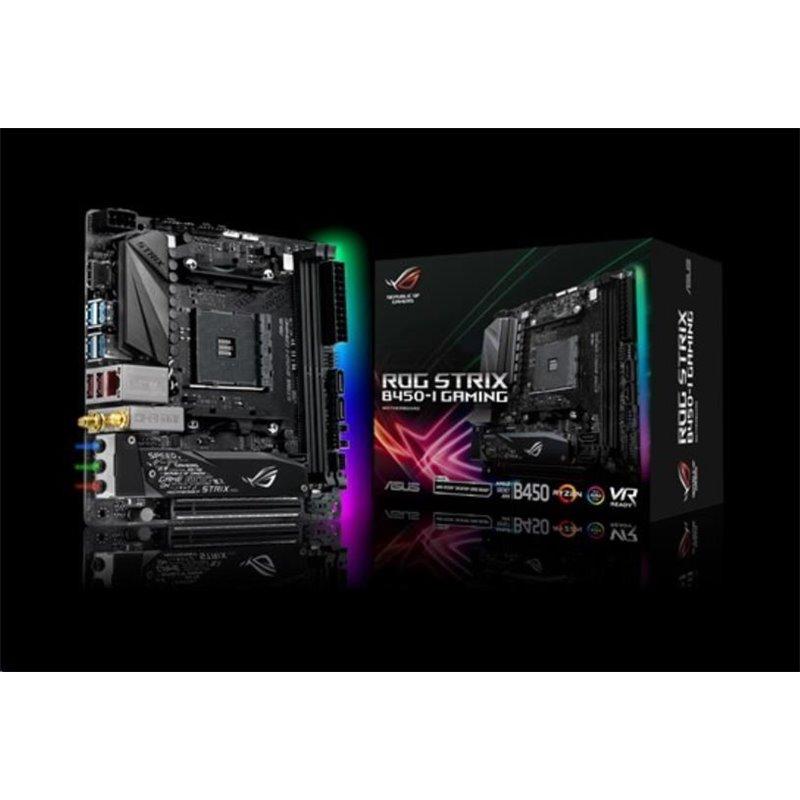ASUS MB Sc AM4 ROG STRIX B450-I GAMING, AMD B450, 2xDDR4, VGA, mini-ITX