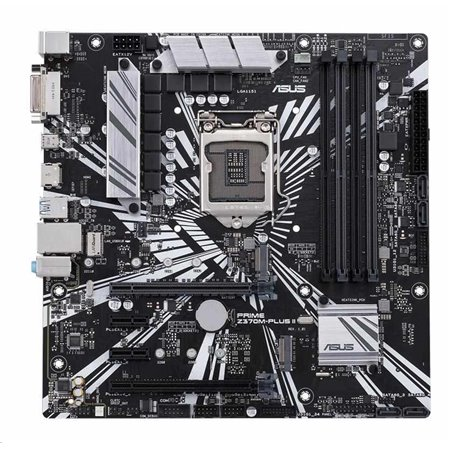 ASUS MB Sc LGA1151 PRIME Z370M-PLUS II, Intel Z370, 4xDDR4, VGA, mATX